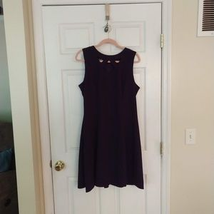Alyx Dress - Fit and Flare - Dark Purple - Size 16